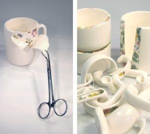Mixed media ceramics by Beccy Ridsdel