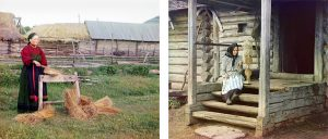 Peasant woman in Perm Province and By yarn. In the Izvedovo village - 1910 by Prokudin Gorsky