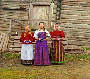 Peasant girls - 1909 by Prokudin Gorsky