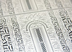 Letterpress Poster (detail) by Cameron Moll