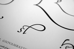 Palatino Glyphs Poster (detail) by Cameron Moll