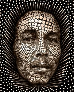 Bob Marley - Digital Circlism by Ben Hein