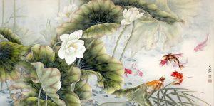 9 Fish and Lotus by Lou Dahua