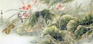 Birds and Lotus by Lou Dahua