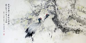 Cranes - Longevity by Wang Jie