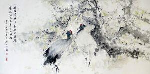 Cranes - Longevity by Wang Jie