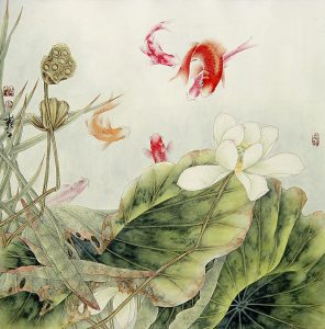 Fish and Lotus by Lou Dahua