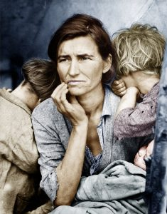 Migrant Mother – final Photoshop output
