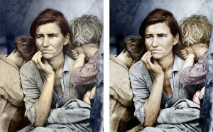 Migrant Mother - comparision