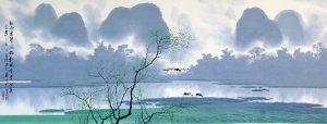Spring Mist by the Li River - Chen Chun Zhong