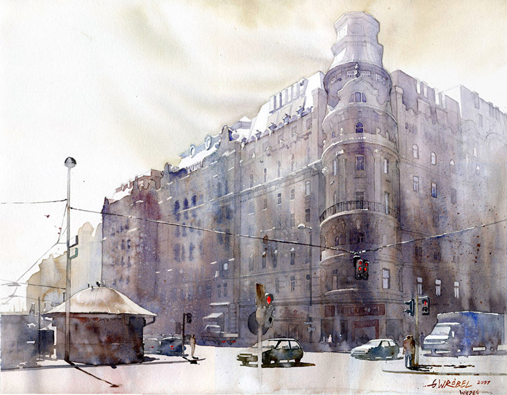 Grzegorz Wrobel , Watercolor Illustrations #artpeople